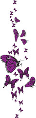 Set of butterflys vector