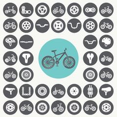 Bicycle icons set. Illustration eps10