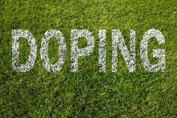 doping geschrieben auf rasen