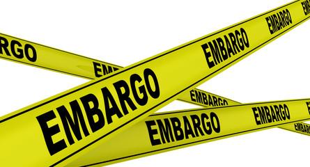 Эмбарго (embargo). Желтая оградительная лента