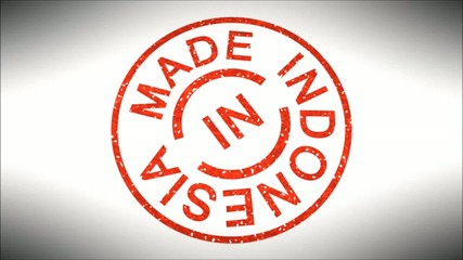Stempel Made in Indonesia