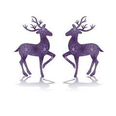 rendeer deer purple silhouette