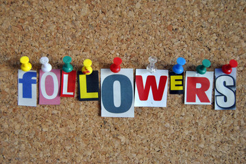 Followers Pinboard Slogan