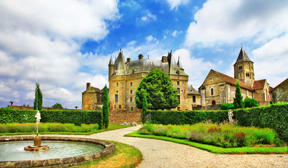 Jumilhac-le-Grand - beautiful elegant castle in Dordogne, France