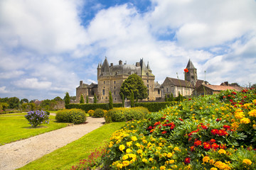 Jumilhac-le-Grand - beautiful  castle in Dordogne, France