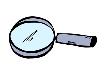 doodle magnify glass