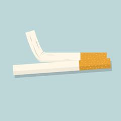 Cigarette. Vector illustration