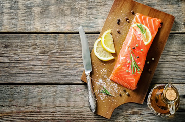 salmon with lemon and rosemary