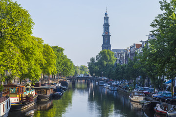 Amsterdam, Netherlands. A typical urban view