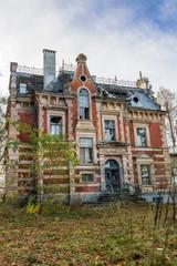 Destroyed, abandoned building