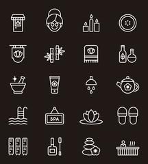 Spa & Wellness icon set