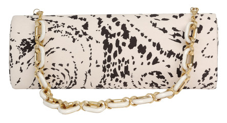 clutch with a print
