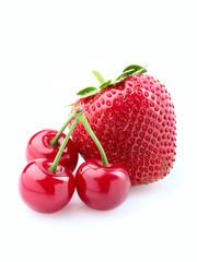 Strawberry and cherry.