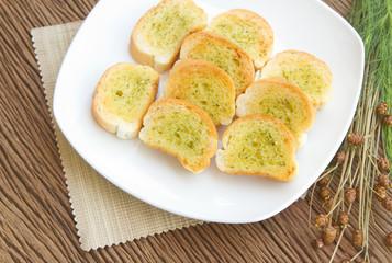 Homemade garlic  bread.