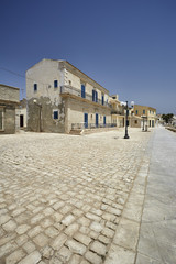 Italy, Sicily, Sampieri, old buildings on the seafront