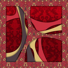 Abstract 3D vector background (design).