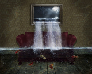 Fantastic flooded  room