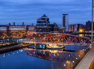Salford Quays Aerial View