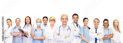 canvas print picture team or group of doctors and nurses