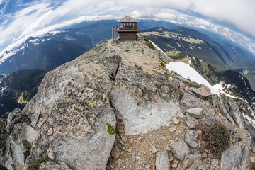Mt. Freemont Lookout in Mt. Rainier National Park, Washington