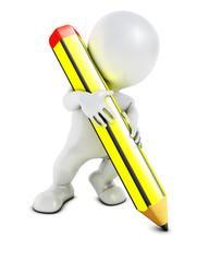 3D Morph Man with pencil