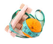Orange and roller massage wrapped in a tapeline