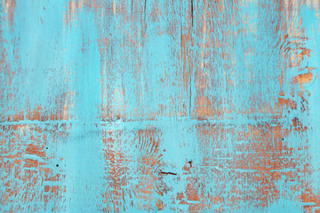 Blue old wooden background