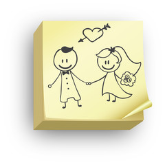 Post-it mariage