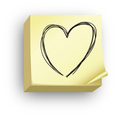 Post-it coeur