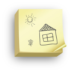 Post-it maison crayon