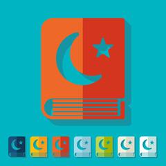 Flat design: koran