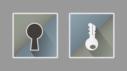 icon of a key and lock