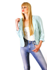 Chic city girl in cool casuals