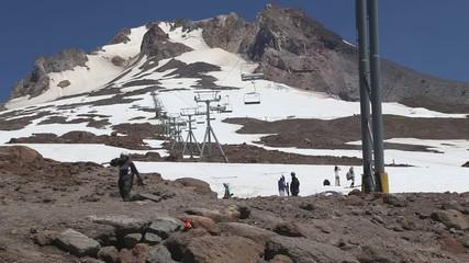 Summer Skiing on Mount Hood, Oregon