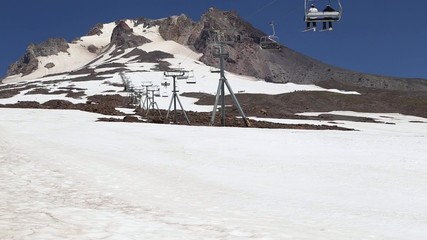 Summer Skiing on Mount Hood, Oregon