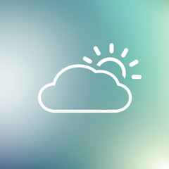 Weather Vector Icon, flat design