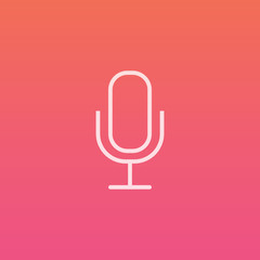 Microphone - Finely crafted line icons
