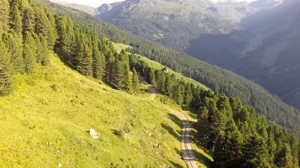 Following a Mountain Path - Aerial Flight