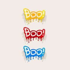 realistic design element: boo
