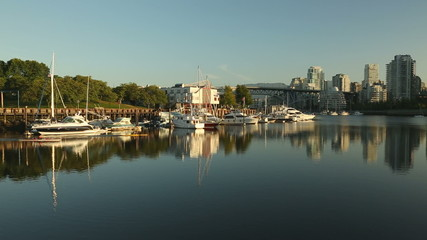 Granville Island Marina and Paddlers, Vancouver