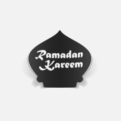 realistic design element: ramadan