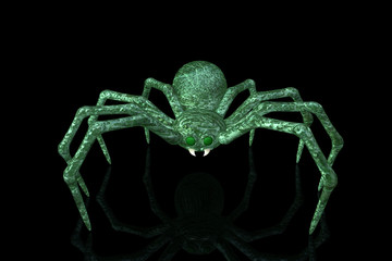 Green Marble Spider