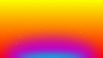 flying particles with rainbow color background 2
