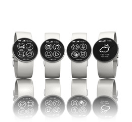 Smart watches isolated on white background