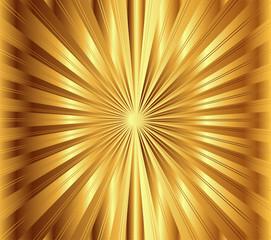 Golden lights background vector