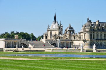 Picardie, the picturesque castle of Chantilly in Oise
