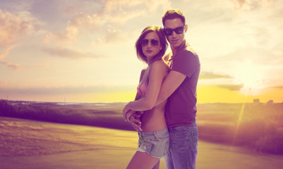 Romantic Young Couple Portrait
