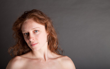 Implied Nude Redhead