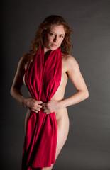 Implied Nude Redhead