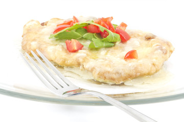 Schnitzel with Butter Sauce